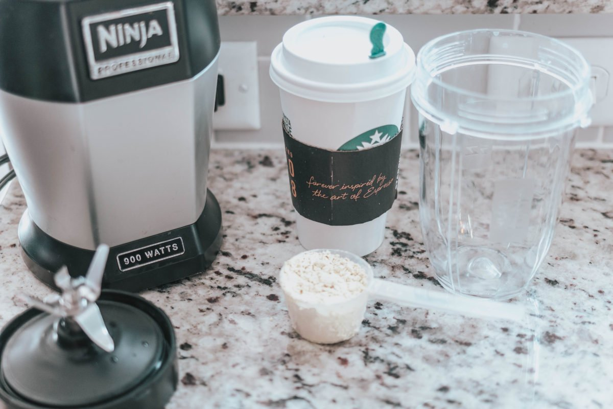 Recipe and Ingredients for making your own blended protein coffee