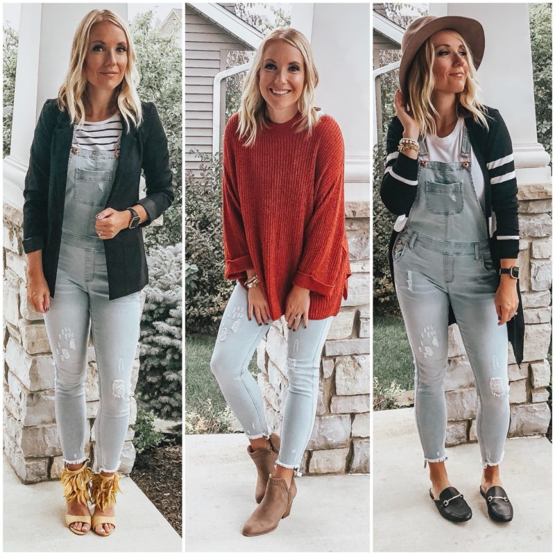 How to style denim overalls for fall