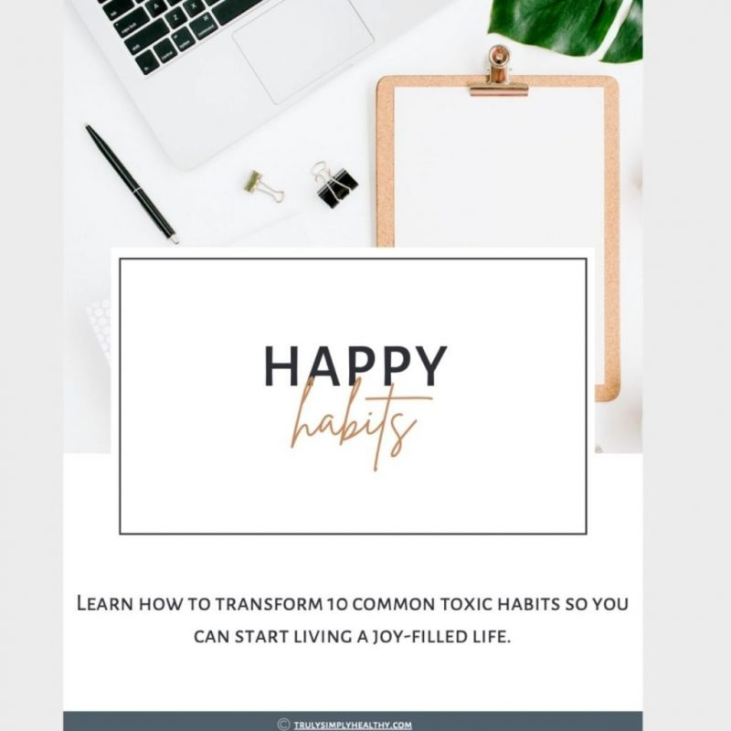 how to develop happy healthy habits